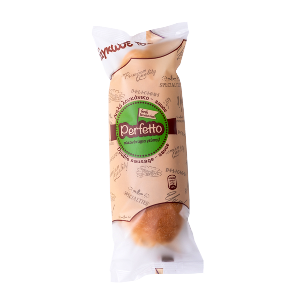 perfettosnack - διπλό λουκάνικο - sauce